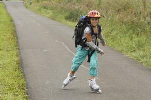 Rein in die Skates zum kilometerlangen Fahrvergnügen auf dem Rheindamm