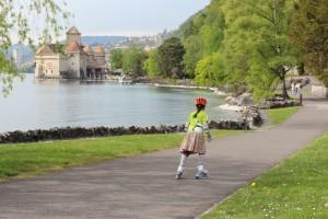 Von Sierre nach Vevey vorbei am Schloss Chillon