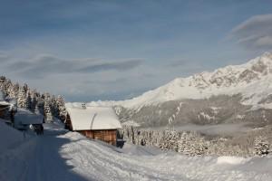 Winterlandschaft bei Tigia Savognin